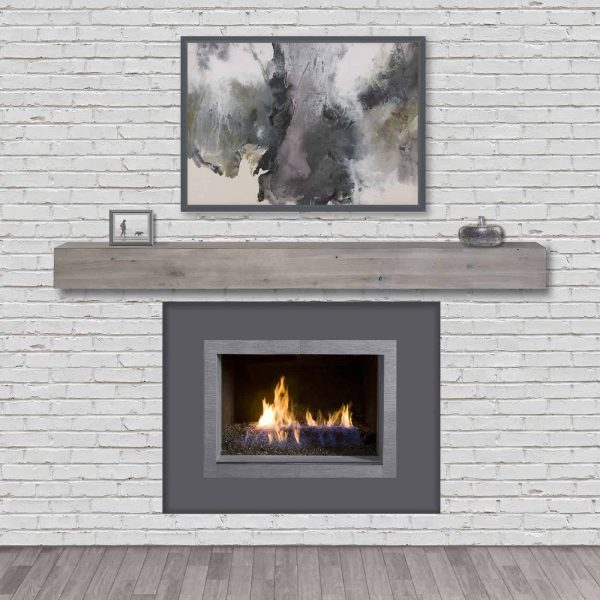 Pearl Mantels Acacia 60 in. Distressed Fireplace Mantel Shelf 3