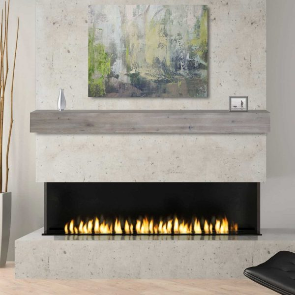 Pearl Mantels Acacia 60 in. Distressed Fireplace Mantel Shelf 4