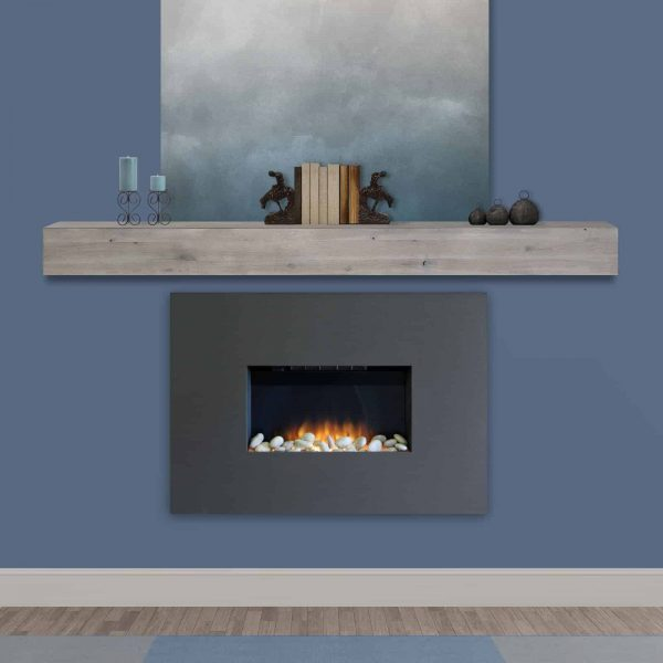 Pearl Mantels Acacia 60 in. Distressed Fireplace Mantel Shelf 9