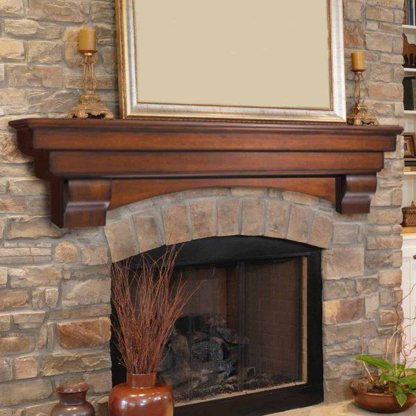 Pearl Mantels Auburn Traditional Fireplace Mantel Shelf 1