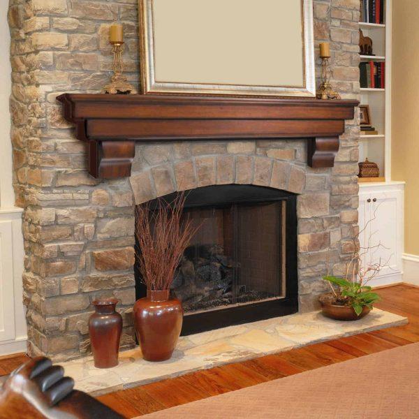 Pearl Mantels Auburn Traditional Fireplace Mantel Shelf 10