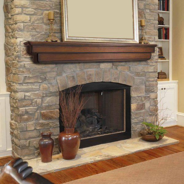 Pearl Mantels Auburn Traditional Fireplace Mantel Shelf 2