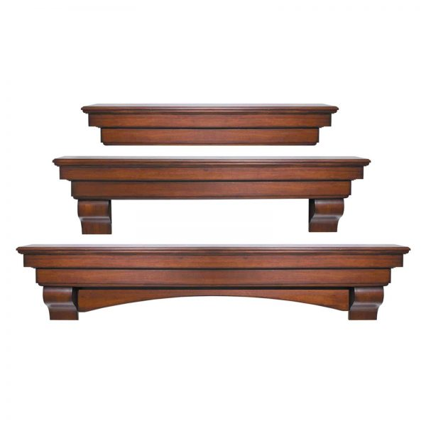 Pearl Mantels Auburn Traditional Fireplace Mantel Shelf 3