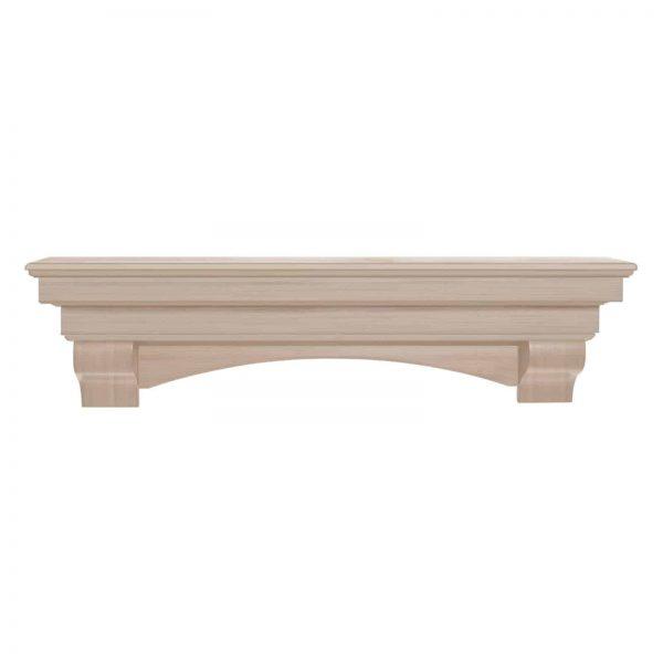 Pearl Mantels Auburn Traditional Fireplace Mantel Shelf 6