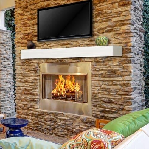 Pearl Mantels Austin Zachary Non-Combustible Fireplace Shelf Mantel 1