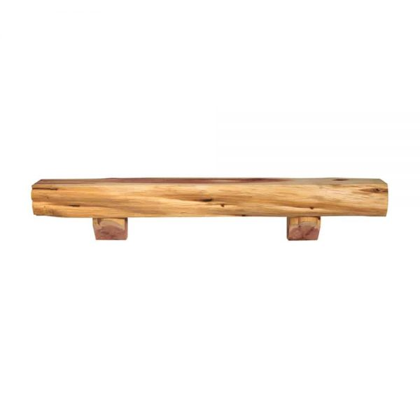 Pearl Mantels Corp. Pearl Mantels Home Decor Furniture Cedar Live Edge Mantel Shelf with Corbel Bracket