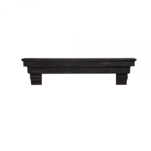 "Pearl Mantels Corp. Pearl Mantels Home Decor Furniture Celeste 72"" Mantel Shelf Espresso Finish 1"