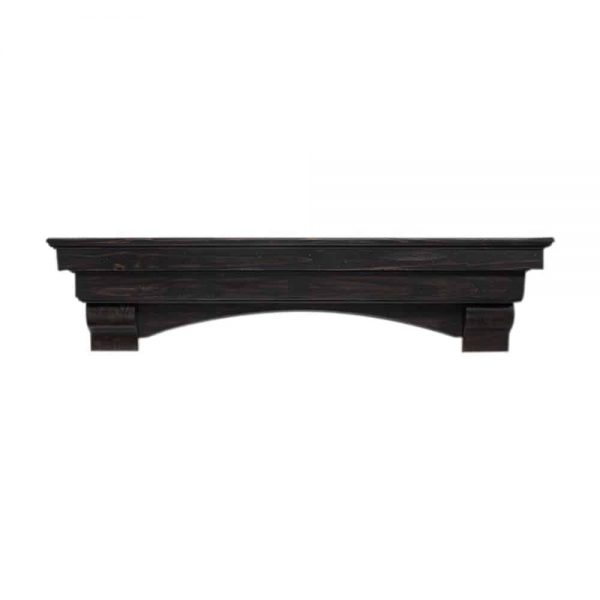 "Pearl Mantels Corp. Pearl Mantels Home Decor Furniture Celeste 72"" Mantel Shelf Espresso Finish 2"