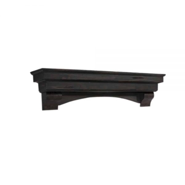 "Pearl Mantels Corp. Pearl Mantels Home Decor Furniture Celeste 72"" Mantel Shelf Espresso Finish 3"