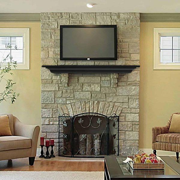 Pearl Mantels Crestwood Transitional Fireplace Mantel Shelf 2
