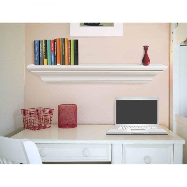 Pearl Mantels Crestwood Transitional Fireplace Mantel Shelf 4