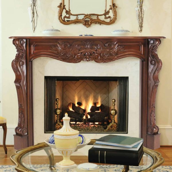 Pearl Mantels Deauville Wood Fireplace Mantel Surround 1