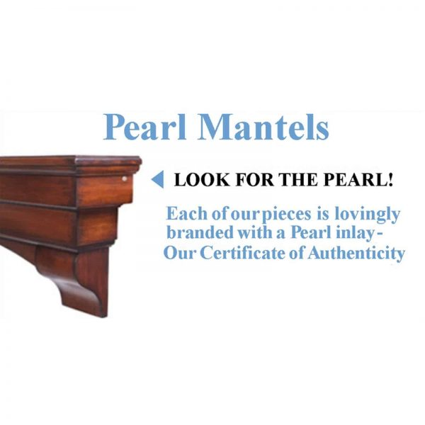 Pearl Mantels Deauville Wood Fireplace Mantel Surround 5