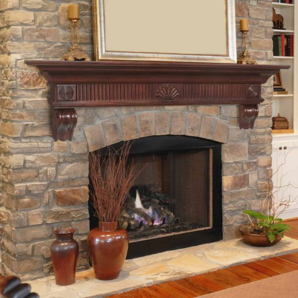 Pearl Mantels Devonshire Traditional Fireplace Mantel Shelf 1