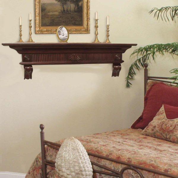 Pearl Mantels Devonshire Traditional Fireplace Mantel Shelf 2