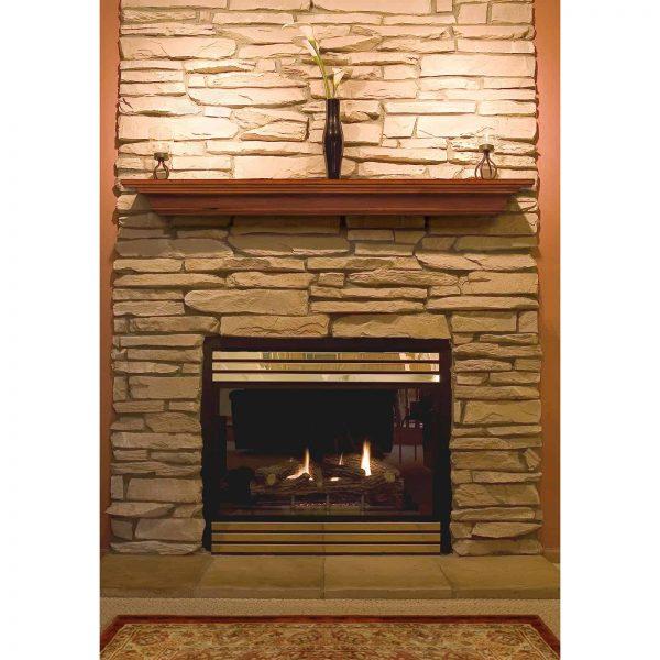 Pearl Mantels Homestead Transitional Fireplace Mantel Shelf 2