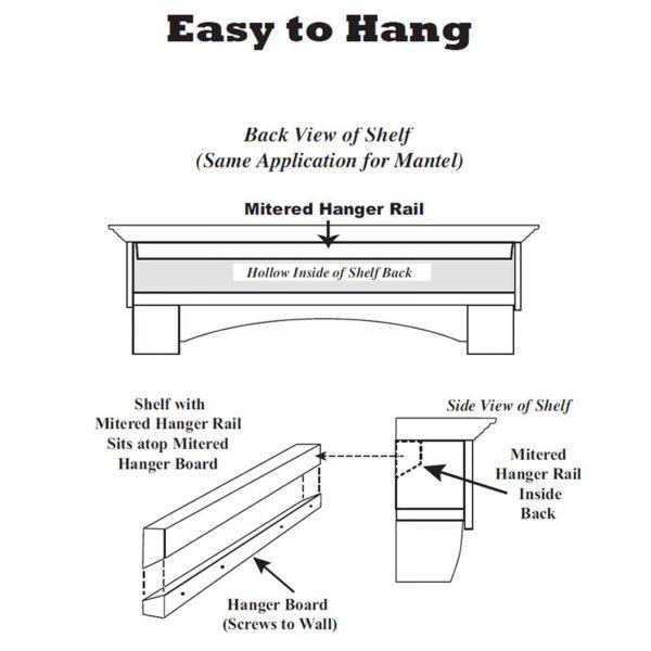 Pearl Mantels Homestead Transitional Fireplace Mantel Shelf 8