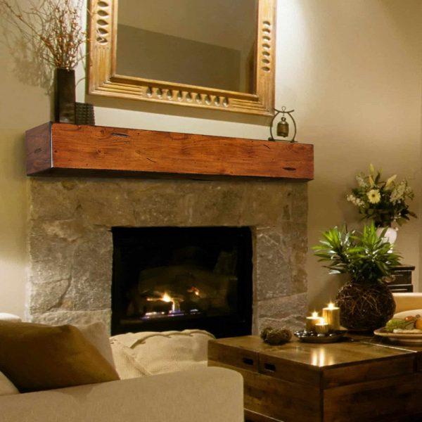 Pearl Mantels Lexington Chunky Beam Fireplace Shelf 1