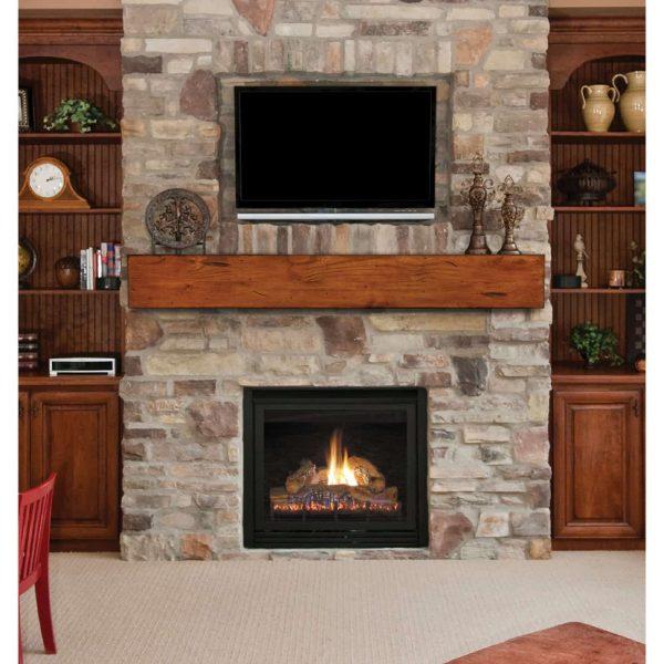 Pearl Mantels Lexington Chunky Beam Fireplace Shelf 7