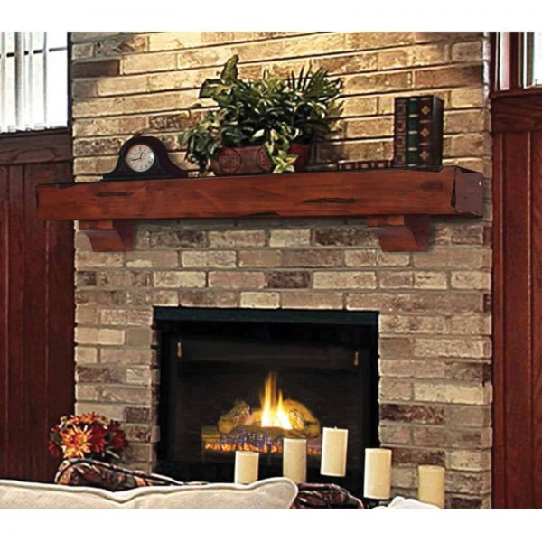 Pearl Mantels Shenandoah Traditional Fireplace Mantel Shelf 8