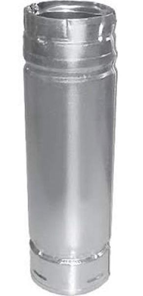 """PelletVent Pro 4"""" Pellet Chimney Straight Pipe - 24"""""""