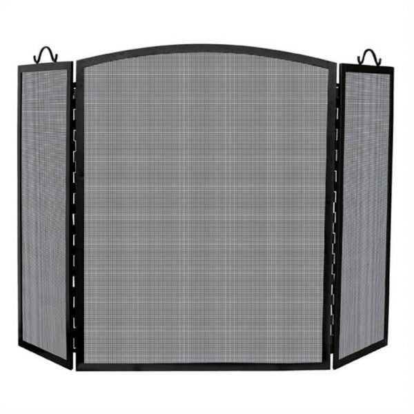 Pemberly Row Large 3 Panel Iron Arch Top Screen