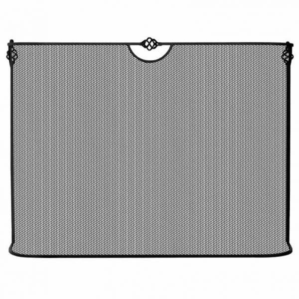 Pemberly Row Single Panel Black Wrought Iron Sparkguard