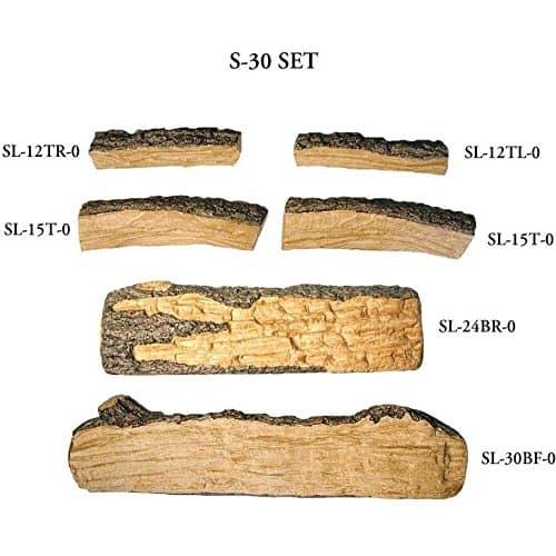 Peterson Gas Logs 30-inch Split Oak Logs Only No Burner 1