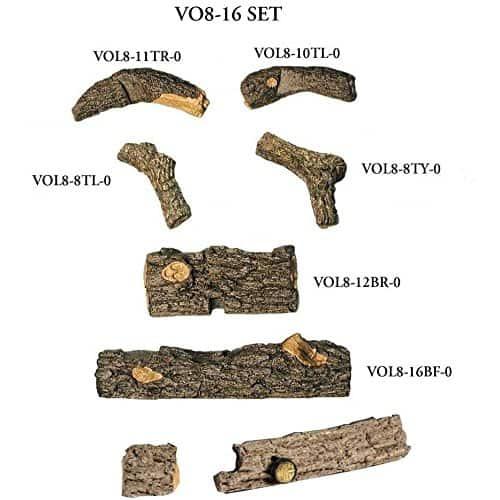 Peterson Real Fyre 16-inch Valley Oak Log Set With Vent-free Natural Gas Ansi Certified 9,500 Btu G8-r Burner - Manual Safety Pilot 1