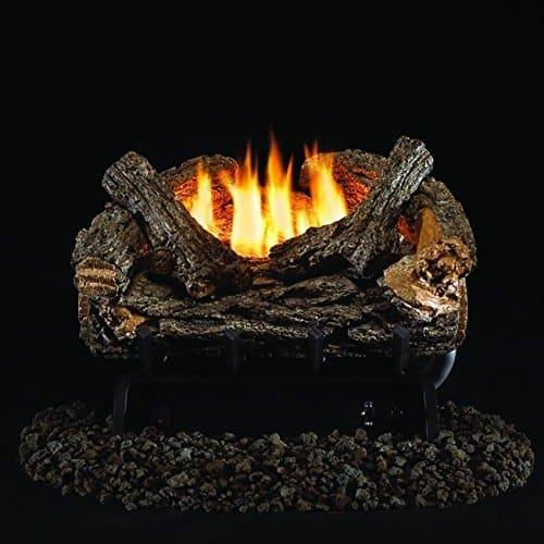 Peterson Real Fyre 16-inch Valley Oak Log Set With Vent-free Natural Gas Ansi Certified 9