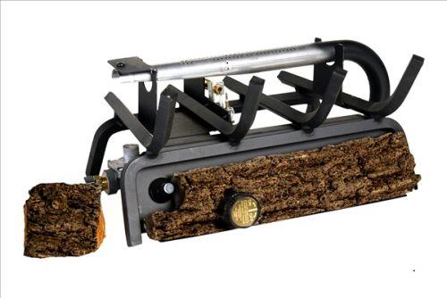 Peterson Real Fyre 16-inch Valley Oak Log Set With Vent-free Propane Ansi Certified 20,000 Btu G8 Burner - Manual Safety Pilot 1