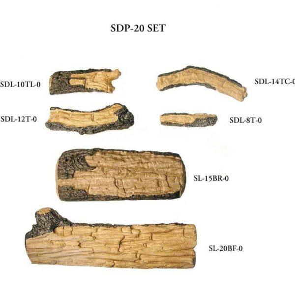 Peterson Real Fyre 20-inch Split Oak Designer Plus Log Set With Vented Propane G4 Burner - Manual Safety Pilot 3