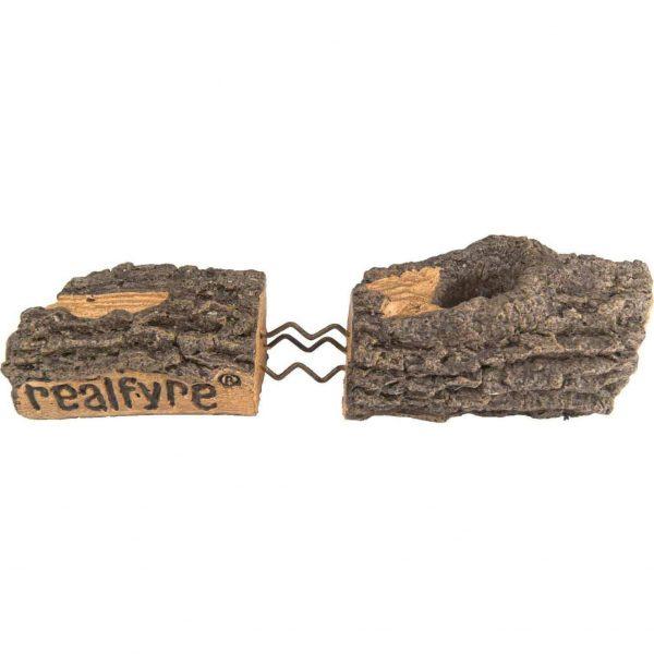 Peterson Real Fyre 24-inch Split Oak Designer Plus See-thru Natural Gas Log Set With Vented G45 Burner 2