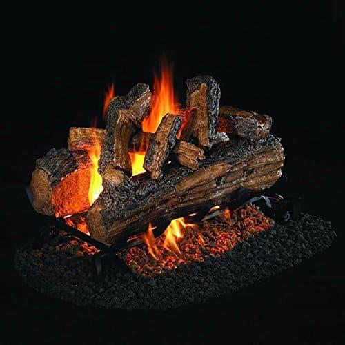 Peterson Real Fyre 24-inch Split Oak Designer Plus See-thru Natural Gas Log Set With Vented G45 Burner