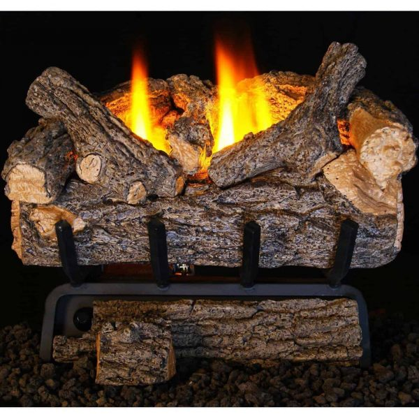 Peterson Real Fyre 24-inch Valley Oak Log Set With Vent-free Natural Gas Ansi Certified 9