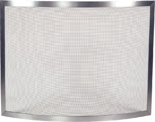 Pewter Brushed Panel Screen with Bowed Design - 31 inch