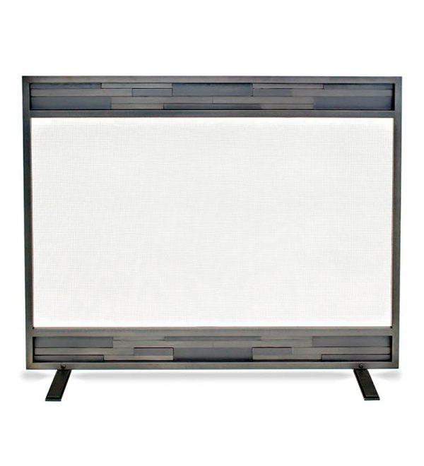Pilgrim 18252 Lanier Single Panel Screen - Natural Iron 1