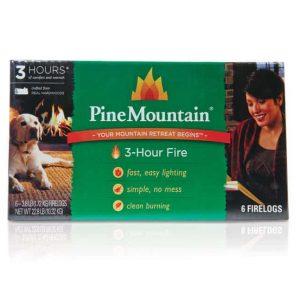 Pine Mountain 6-Pack 3-Hour Firelogs Easy Lighting