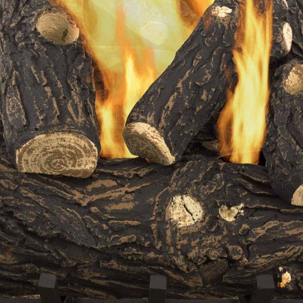"Pleasant Hearth 18"" Willow Oak Vented Gas Log Set 45,000 BTU's 4"