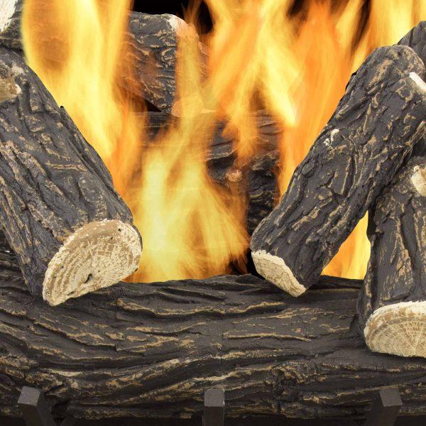 "Pleasant Hearth 24"" Willow Oak Vented Gas Log Set 55,000 BTU's 1"