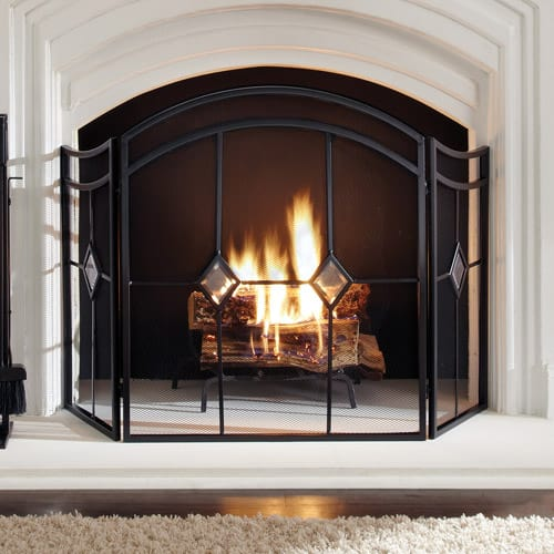 Pleasant Hearth 3-Panel Arched Diamond Fireplace Screen 1