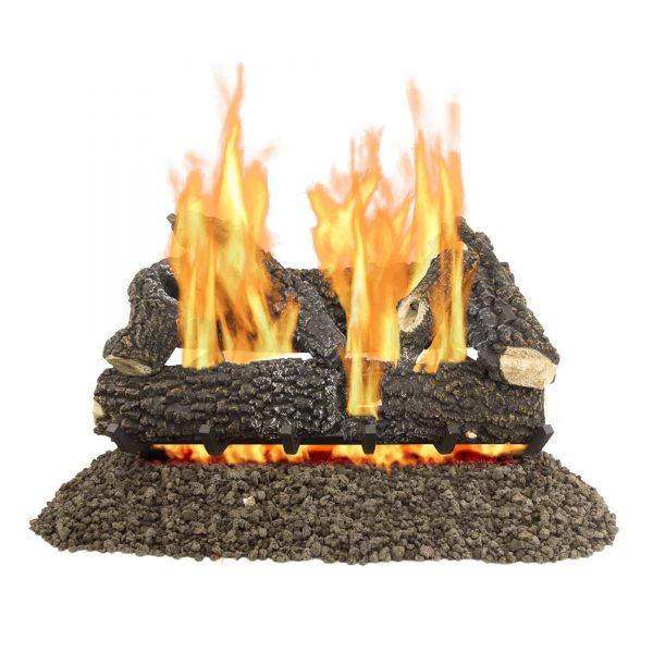 "Pleasant Hearth 30"" Arlington Ash Vented Gas Log Set 65"