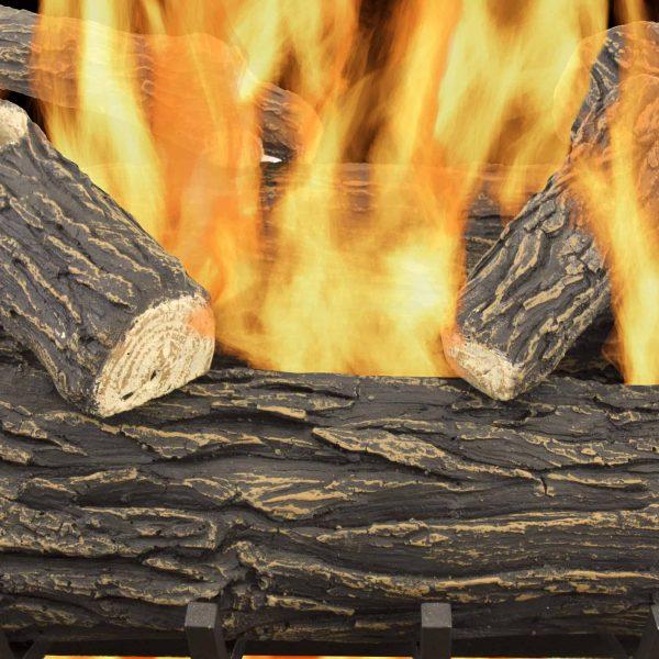 "Pleasant Hearth 30"" Willow Oak Vented Gas Log Set 65,000 BTU's 2"