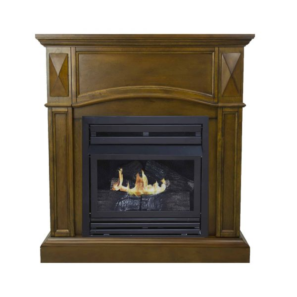 Pleasant Hearth 36 in. Liquid Propane Compact Heritage Vent Free Fireplace System 20,000 BTU 1
