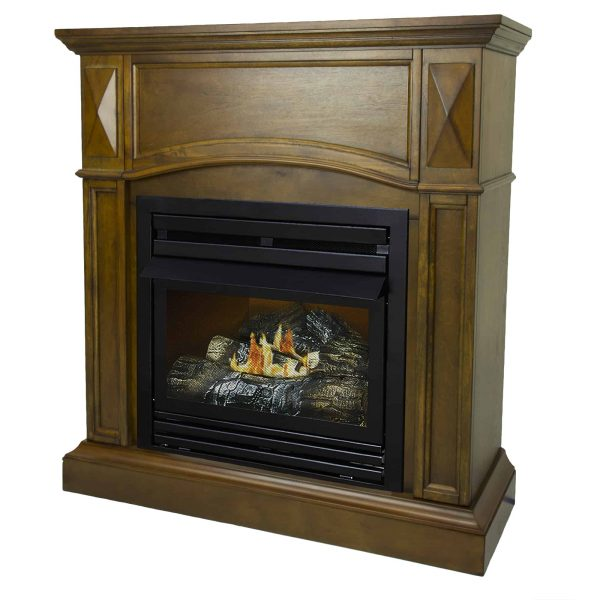 Pleasant Hearth 36 in. Liquid Propane Compact Heritage Vent Free Fireplace System 20