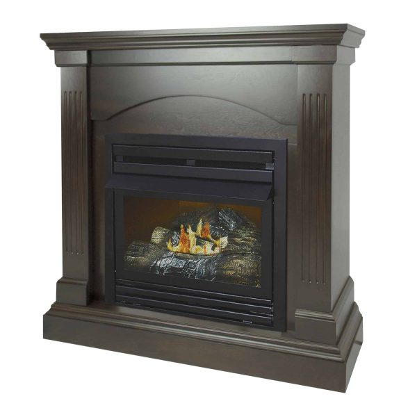 Pleasant Hearth 36 in. Natural Gas Compact Tobacco Vent Free Fireplace System 20