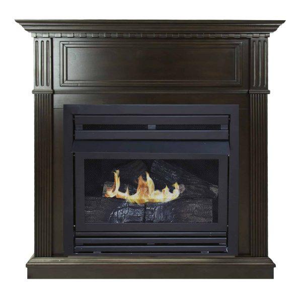 Pleasant Hearth 42 in. Liquid Propane Intermediate Tobacco Vent Free Fireplace System 27,500 BTU 1