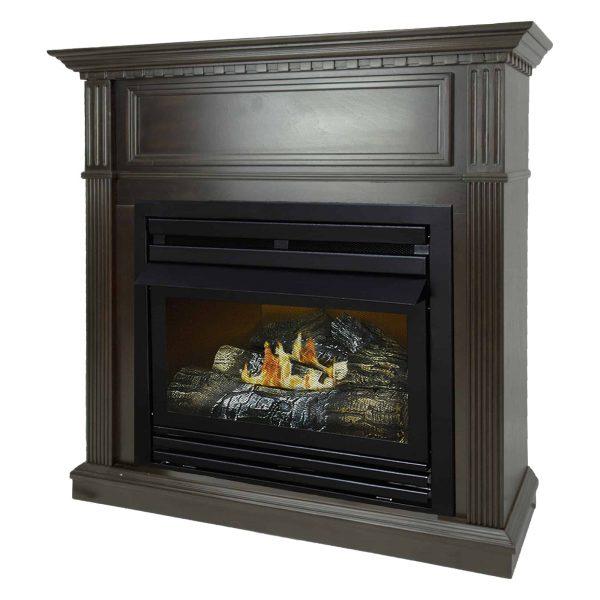 Pleasant Hearth 42 in. Liquid Propane Intermediate Tobacco Vent Free Fireplace System 27