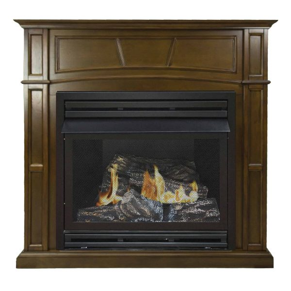 Pleasant Hearth 46 in. Natural Gas Full Size Heritage Vent Free Fireplace System 32,000 BTU 1