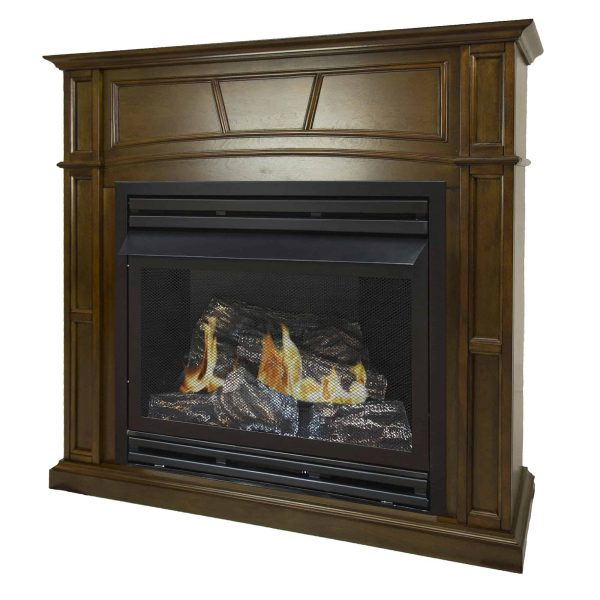 Pleasant Hearth 46 in. Natural Gas Full Size Heritage Vent Free Fireplace System 32